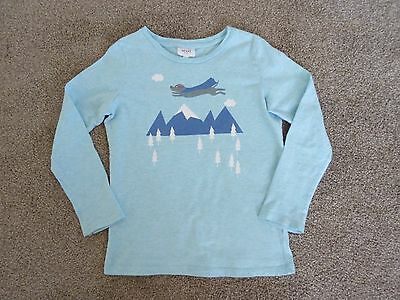 Boys Seed Heritage Blue Long Sleeve Top, Size 6-7