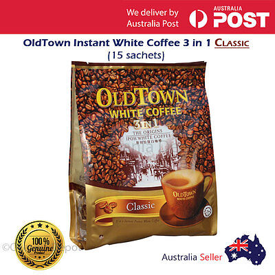 Old Town White Coffee 3 in 1 Classic Instant White Coffee (15 sachets)