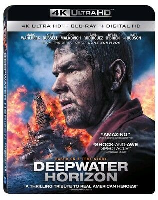 Deepwater Horizon (2 disc) 4K Ultra HD Blu-ray/Blu-ray/Digital Copy/New Sealed
