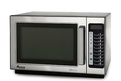 Amana RCS10TS 1000w Commercial Stainless Microwave Oven, Medium Volume