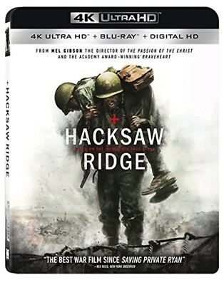 Hacksaw Ridge (2 disc set) 4K Ultra HD Blu-Ray/Blu-Ray/Digital Copy/New Sealed
