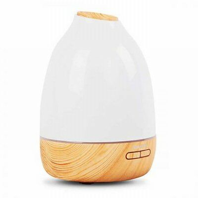 NEW 15W 4 in 1 Cylinder Design Ultrasonic Aroma Diffuser 500ml - Light Wood