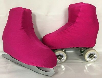 Plain Dark Pink Boot Covers for RollerSkates and Ice Skates  S,M,L