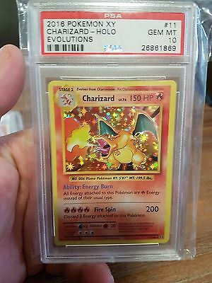 2016 Charizard 11/108 Pokemon Evolutions HOLO PSA 10 Graded Gem Mint -AUS Seller