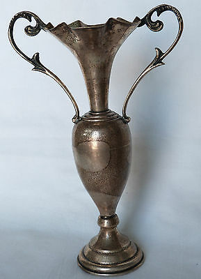 Gorgeous Decorative Sterling Silver 925 Vintage Hand Made Greek Amphora Vase