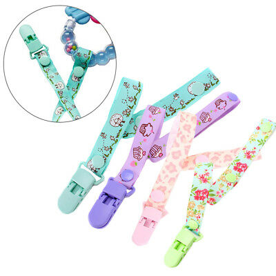 Baby Pacifier Clip Chain Ribbon Dummy Holder Soother Leash Strap Nipple