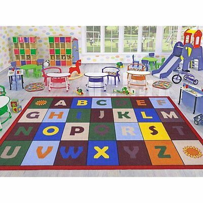 Children Alphabet Play Mat Kids Bed Room Area Rug Educational Preschool Day Care