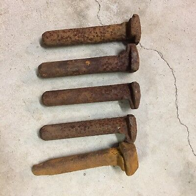 Dog Spikes Railway Spikes - Antique Collectable Old Decor Rustic Rusty