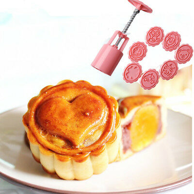 Round Mooncake Mold Pattem Moon Cake Decoration Cartoon Mould Stamp DIY Tool