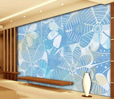 Modern Blue 3D Full Wall Mural Photo Wallpaper Printing Home Kids Decoration