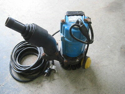 Tsurumi HSZ3.75S Automatic Sand/Trash Pump- 3in Port 60 GPH 1 HP SLIGHTLY USED