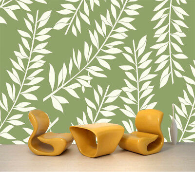 Simple Leaves 3D Full Wall Mural Photo Wallpaper Printing Home Kids Decoration
