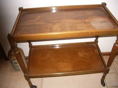 Vintage tray mobile, tea trolley