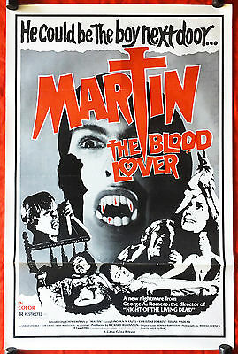 MARTIN THE BLOOD LOVER - Original 1978 US 1-Sheet Movie Poster -George A. Romero