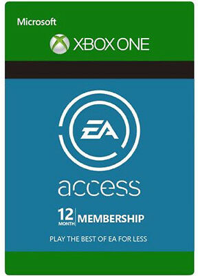 EA ACCESS 12 MONATE MITGLIEDSCHAFT [XBOX ONE] KARTE CODE 12 MONTH Key CARD