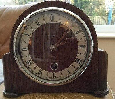 Vintage Bentima Oak Case Mantle Clock (1327)