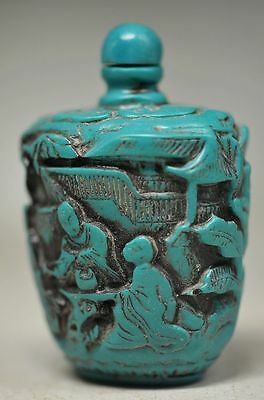 Delicate Chinese Resin Handwork Tree&people Snuff Bottle