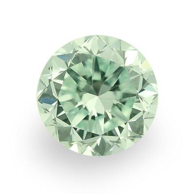 Lovely 2.85 ct 9.60 mm VVS2 Intense Green Round Cut Loose Moissanite AUD