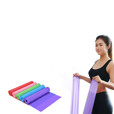1.5M Yoga Elastic Strap Band Latex Rally Stretch Tension Resistance Fitness Belt