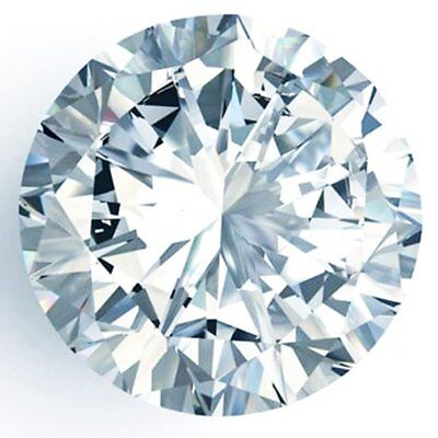 0.63 ct 5.75 mm Off White Blue tint VVS1 Round Cut Loose Moissanite AUD