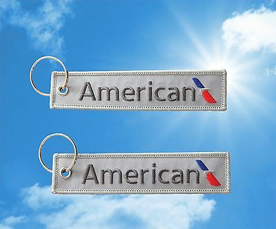 American Airlines keychain keyring baggage luggage tag