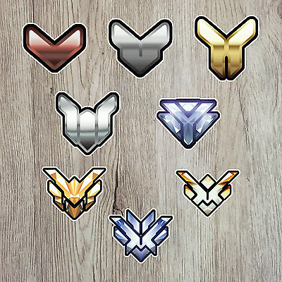 Overwatch Competitive Rank icons Bronze to top500 decal stickers Pc Console Car