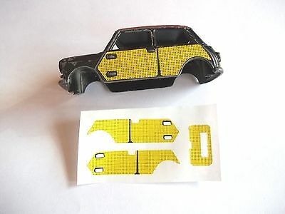 Corgi Wickerwork Mini No 249. Sticker Set. Now re-made as original.