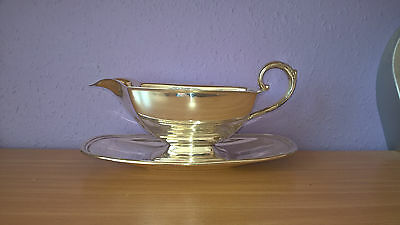 Vintage Silver Plated Gravy/Sauce Boat and Stand 482g