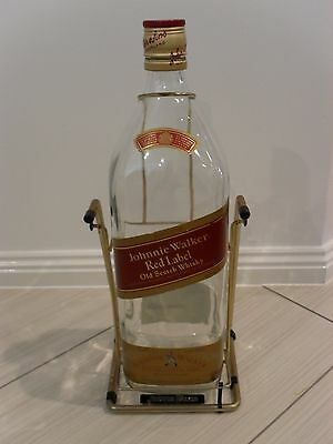 Johnnie Walker Red Label Old Scotch Whisky - Large 4.5 Ltr Bottle - Empty