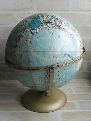 ORIGINAL VINTAGE RAND McNALLY WORLD PORTRAIT GLOBE - MADE IN USA