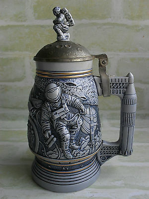 Vintage Collectable Avon Conquest Of Space Ceramic Stein - Brazil - Rare