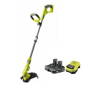 "Ryobi ONE+ OLT1832-2BC13 18V Cordless ""EasyEdge"" Grass Trimmer with 2 x 1.3Ah Li"