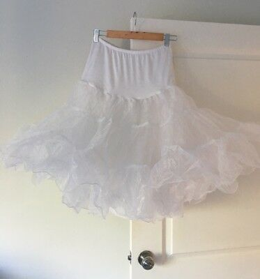 White Petticoat/ Fifties/ Rockabilly Underskirt/ Wedding Prom For Dress 10-12