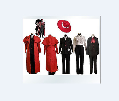 Hellsing Alucard Cosplay Costume Set Vampire Hunter Made Any Size