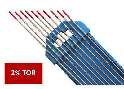 1pcs 2% Thoriared WT-20 Red TIG Welding Tungsten Electrode 1.0 1.6 2.0 2.4 3.2