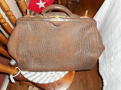 """Vintage Leather Doctors Bag Been Used 20"""" 14"""" x 9"""""""