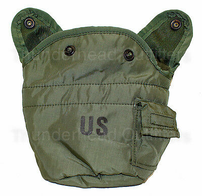 US Military Army Issue 1 QT QUART CANTEEN COVER Pouch w Alice Clips OD NYLON VGC