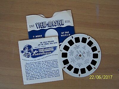 """stereodisco VIEW-MASTER """"THE GREAT PYRAMDS AND SPHINX GIZA EGYPT"""" n. 3303"""