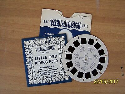 """stereodisco VIEW-MASTER """"LITTLE RED RIDING HOOD"""" n. FT1"""