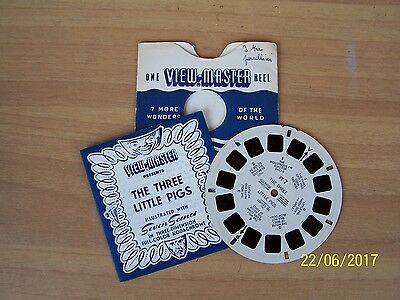 """stereodisco VIEW-MASTER """"THE THREE LITTLE PIGS"""" FT7"""
