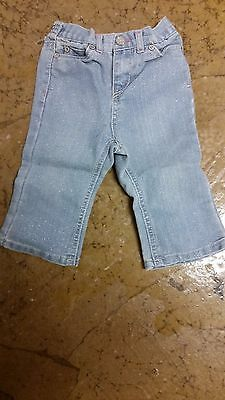 CHEROKEE~Toddler Girl's Pants~jeans with sparkles~size 12 months