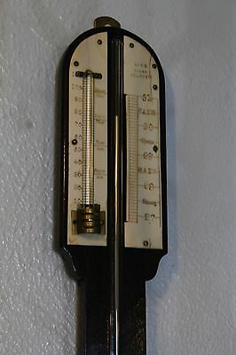 Antique stick barometer signed BELL MAKER GLASGOW