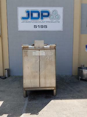 Used 470 Gallon 304 Stainless Steel Tote Tank Metalcraft Transtore