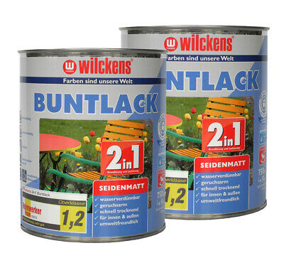 Wilckens BUNTLACK 2in1 Dispersion Lack seidenmatt 7 RAL FARBEN 750ml (9,99€/1l)