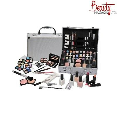 58 Piece Vanity Case Make Up Set Manicure Box Beauty Cosmetic Gift Xmas Storage