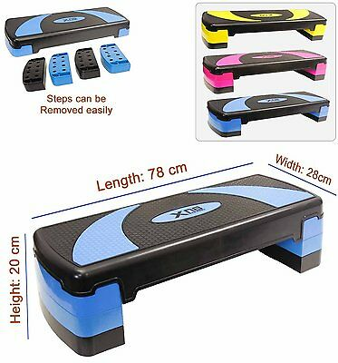 Aerobic 3 Level Adjustable Stepper Yoga Step Board Gym Fitness Exercise