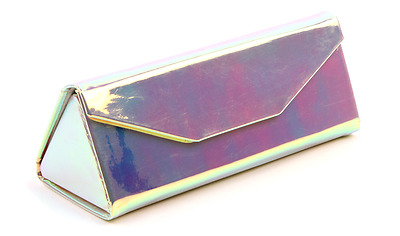 New Triangle glasses case Folding box magnetic sunglasses - Rose Gold