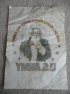 Vintage US Army IRON ON TRANSFER Uncle Sam Join the People Whove Joined the Army