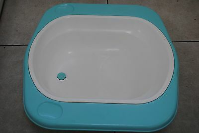Blue and white Mothercare over bath baby bath