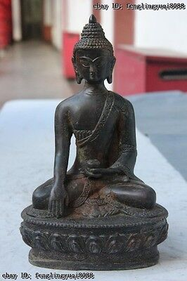 China Buddhism Temple Copper Bronze Amitabha Rulai Sakyamuni Buddha God Statue